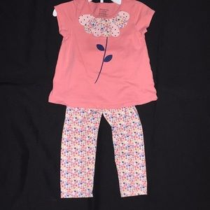 Girls 24 M set outfit pants shirt top